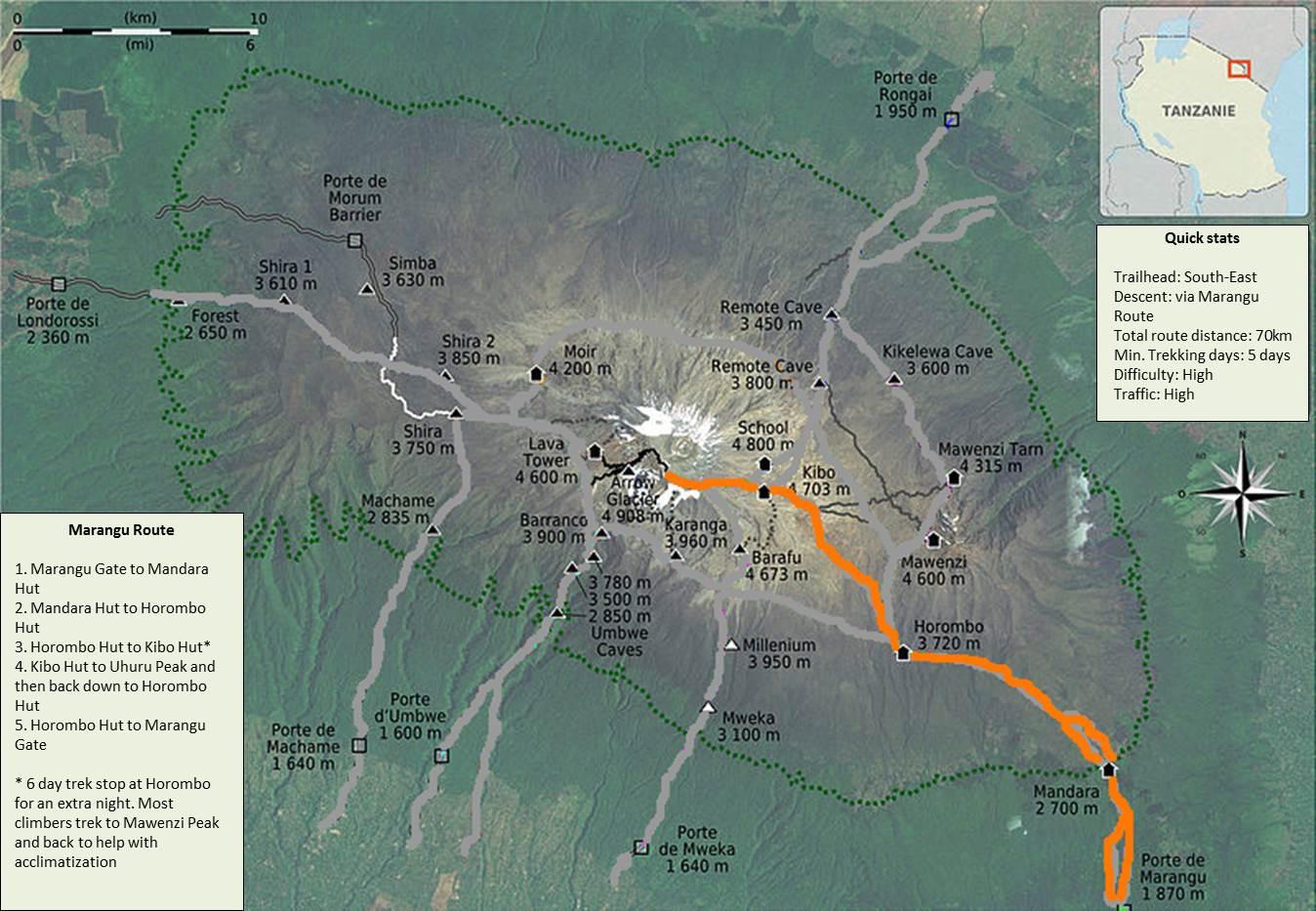 Marangu-Route-Map
