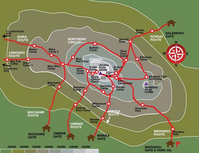 kilimanjaro-map