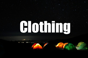 Clothing Kilimanjaro Guide - Packing List