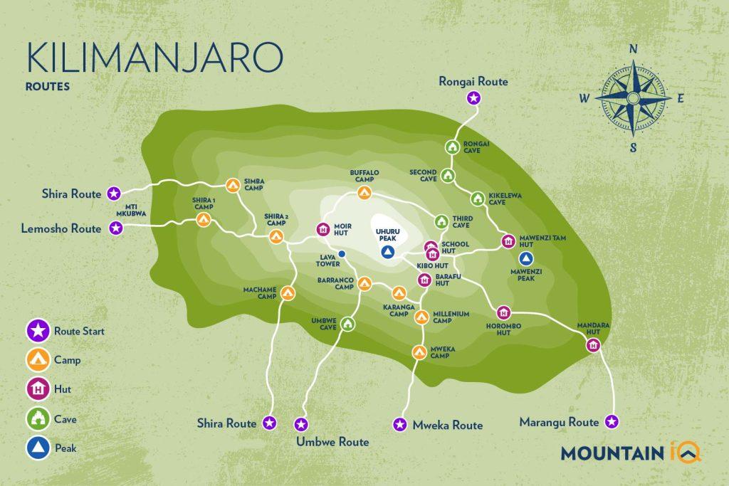 MIQ_Kilimanjaro Routes map_All routes (72ppi)