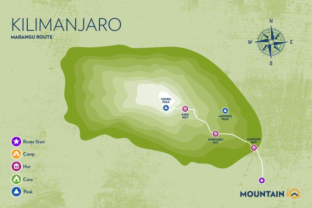 MIQ_Kilimanjaro Routes map_Marangu route