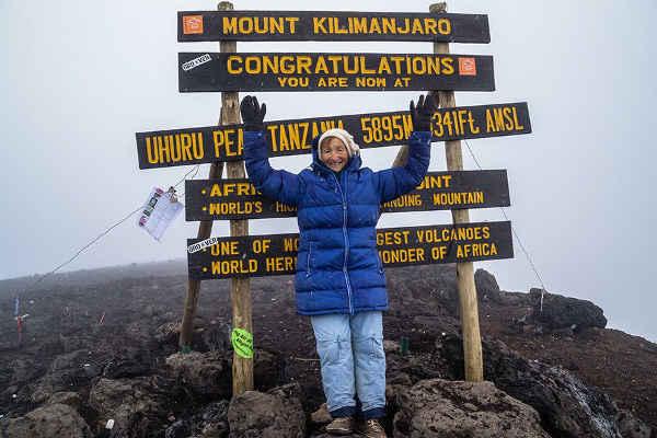 Angela Vorobeva Kilimanjaro