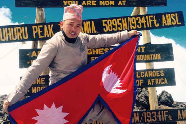 Nepali Climber Sanjay Pandit Kilimanjaro