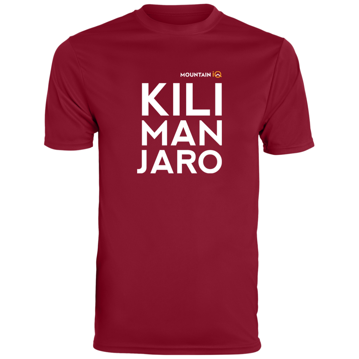 Kilimanjaro Mens T-Shirt Maroon MountainIQ