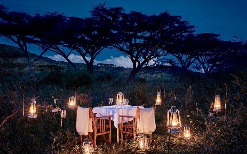 Sanctuary-Ngorongoro-Crater-Camp-Night-Dining