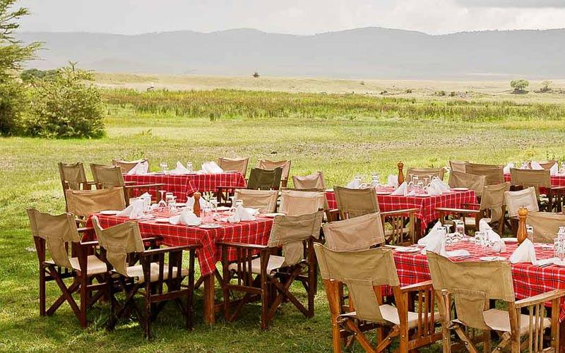 Sopa Lodge Ngorongoro Crater Outdoor Dining