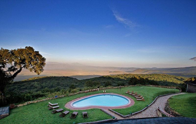 Sopa Lodge Ngorongoro Crater Pool Views